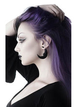 Load image into Gallery viewer, Killstar Crescent Moon Earrings