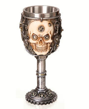 Load image into Gallery viewer, Gothic Gifts Resin Skull Goblet - Steampunk Skull - Kate's Clothing