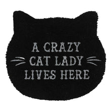 Load image into Gallery viewer, Gothic Gifts Cat Lady Doormat - Kate's Clothing