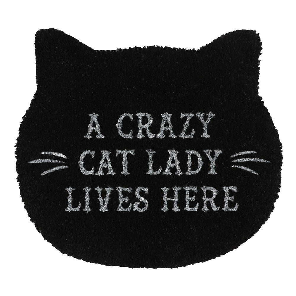 Gothic Gifts Cat Lady Doormat - Kate's Clothing