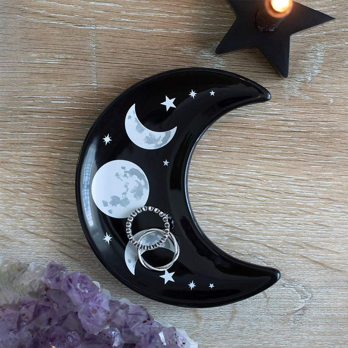 Gothic Gifts Crescent Moon Trinket Dish - Kate's Clothing