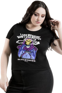 Killstar Plus Size Dark + Bitter Ringer Top - Kate's Clothing