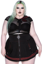 Load image into Gallery viewer, Killstar Darknet Crop Top Plus Size - Kate's Clothing