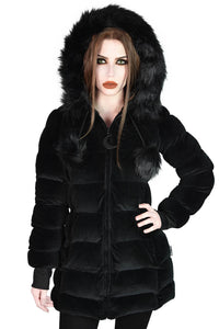 Killstar Dead Of Night Velvet Coat - Kate's Clothing