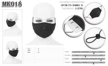 Load image into Gallery viewer, Devil Fashion Web Pattern Face Mask With Filter - Kate's Clothing