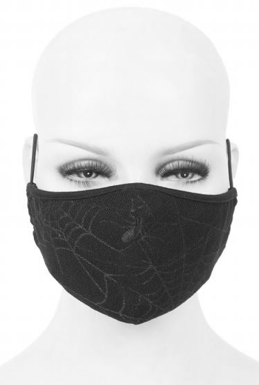 Devil Fashion Web Pattern Face Mask With Filter - Kate's Clothing