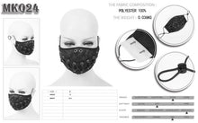 Load image into Gallery viewer, Devil Fashion Lace Up Face Mask With Filter - Kate's Clothing