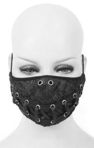 Devil Fashion Lace Up Face Mask With Filter - Kate's Clothing