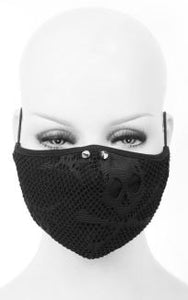 Devil Fashion Skull Pattern Face Mask With Filter - Kate's Clothing