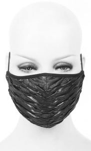 Devil Fashion Ruffled Effect Face Mask With Filter - Kate's Clothing