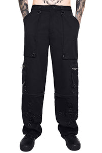 Killstar Mens Devotion Zip Off Trousers