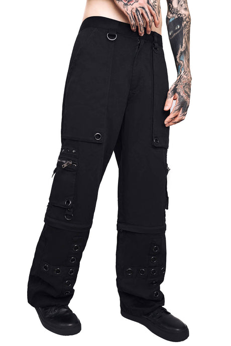 Killstar Mens Devotion Zip Off Trousers - Kate's Clothing