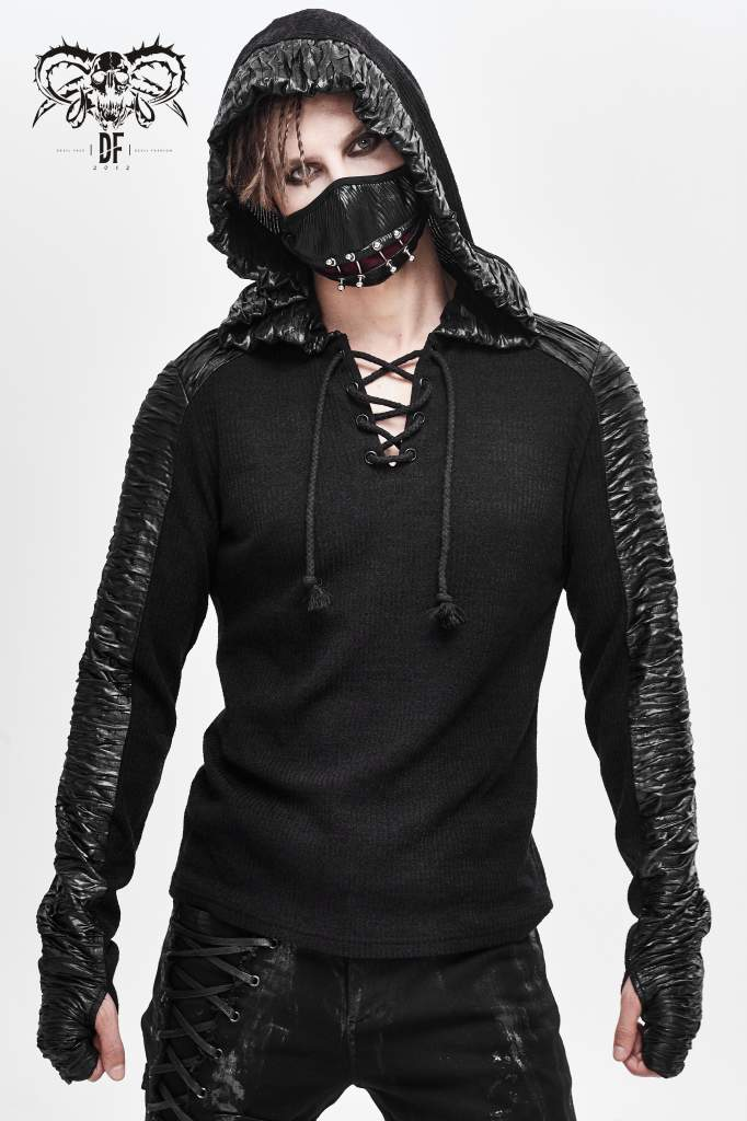 Devil Fashion Mens Drake Hooded Top - Kate's Clothing