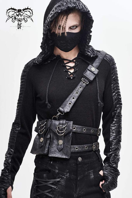 Devil Fashion Mens Harness Belt With Pockets - Kate's Clothing