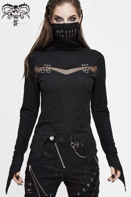 Devil Fashion Jacquard Top - Kate's Clothing