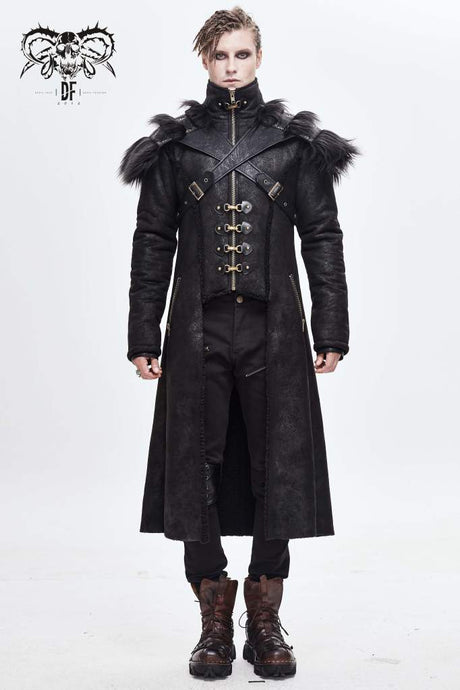 Devil Fashion Mens Luther Coat - Kate's Clothing