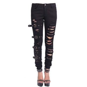 Devil Fashion Mercy Ripped Jeans - Kate's Clothing