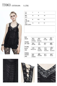 Devil Fashion Ripped Effect Vest Top