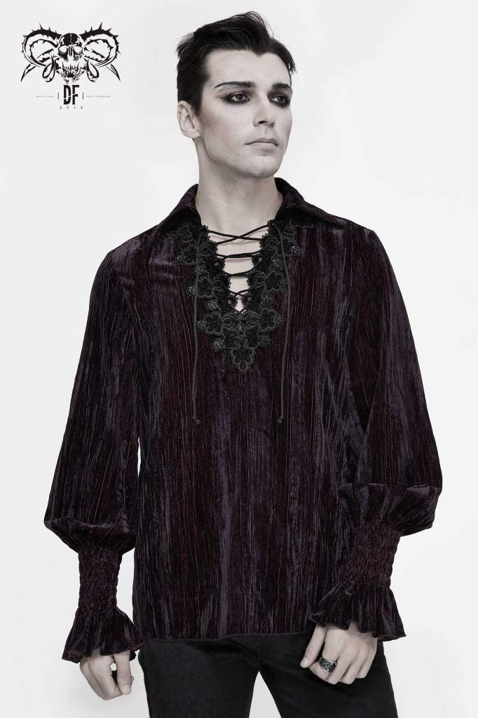 Devil Fashion Mens Rubicund Cord Shirt - Kate's Clothing