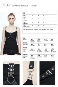 Devil Fashion Two Style Vest Top - Kate's Clothing