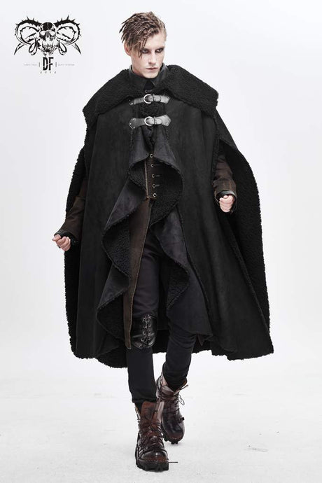Devil Fashion Mens Winter Cloak - Kate's Clothing