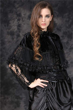 Load image into Gallery viewer, Dark In Love Apollonia Hooded Cape - Kate's Clothing