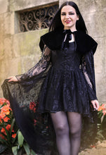 Load image into Gallery viewer, Dark In Love Gothic Blossoming Cape - Kate's Clothing