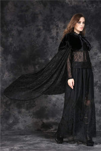 Dark In Love Gothic Blossoming Cape - Kate's Clothing