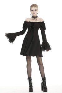 Dark In Love Gothic Doll Bardot Dress
