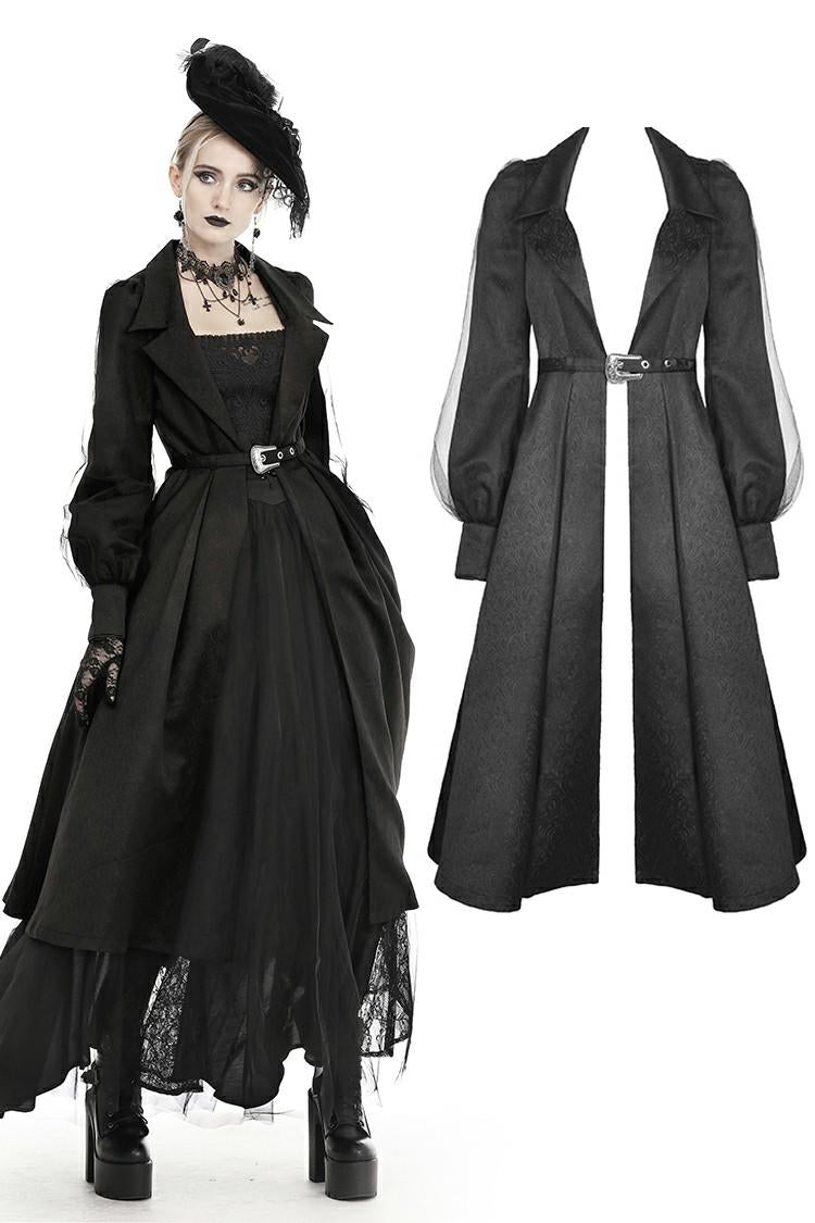 Dark in Love Gwendolyn Belted Open Maxi Jacket - Kate's Clothing