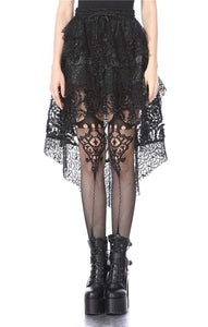 Dark In Love Net Cocktail Skirt - Kate's Clothing