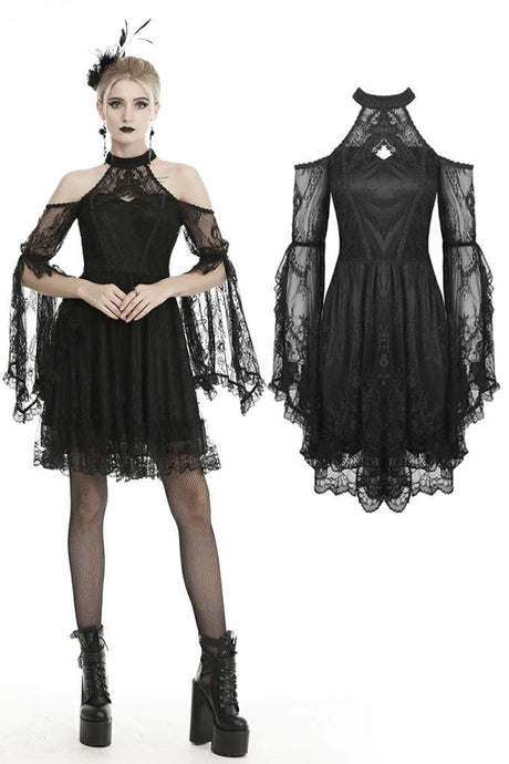 Dark In Love Neige Lace Dress - Kate's Clothing