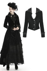 Dark In Love Osanna Velvet Jacket - Kate's Clothing