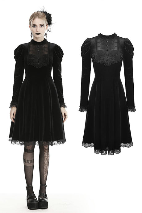 Dark In Love Teo Velvet Dress - Kate's Clothing