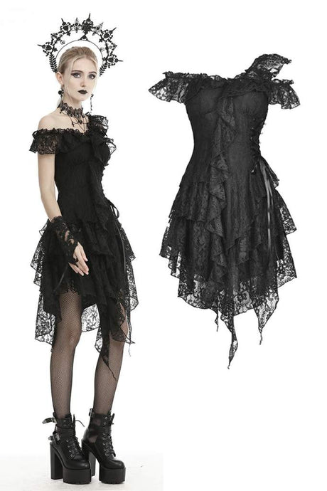 Dark In Love Ziana Lace Dress - Kate's Clothing