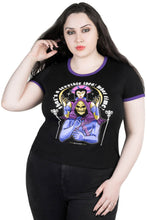 Load image into Gallery viewer, Killstar Skeletor Plus Size Double Trouble Ringer Top - Kate's Clothing