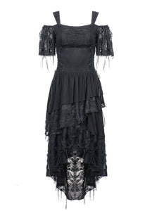Dark In Love Off Shoulder Midi Lace Dress - Kate's Clothing