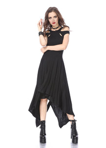 Dark In Love Waterfall Hem Dress - Kate's Clothing