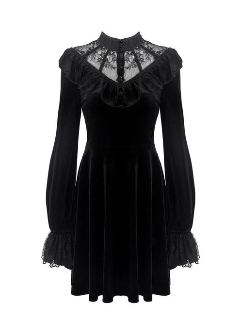 Dark In Love Avina Velvet Dress - Kate's Clothing