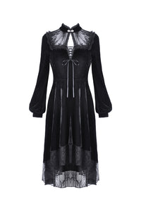Dark In Love Titania Velvet Dress - Kate's Clothing