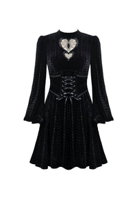 Dark In Love Velvet Heart Dress