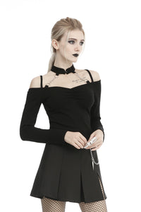 Dark in Love Aubrielle Cold Shoulder Top - Kate's Clothing