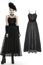 Load image into Gallery viewer, Dark in Love Sariah Velvet and Lace Maxi Dress - Kate's Clothing
