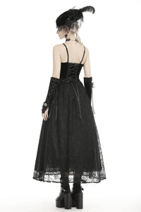 Dark in Love Sariah Velvet and Lace Maxi Dress - Kate's Clothing