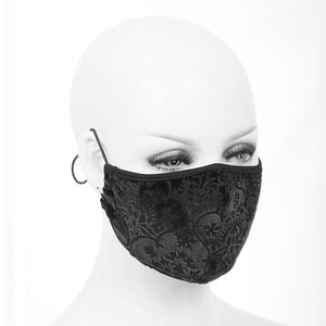 Devil Fashion Brocade Face Mask With Filter - Kate's Clothing