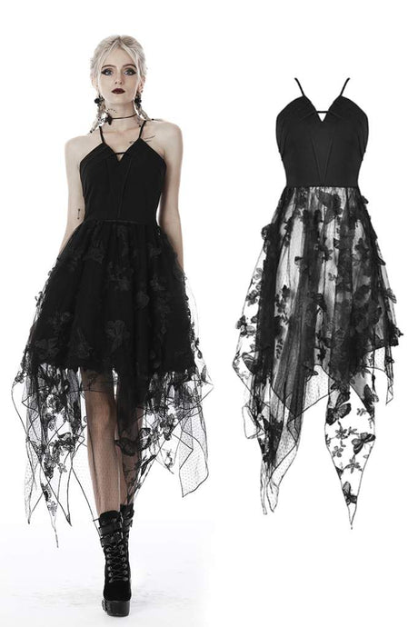 Dark In Love Butterfly Lace Dress - Kate's Clothing