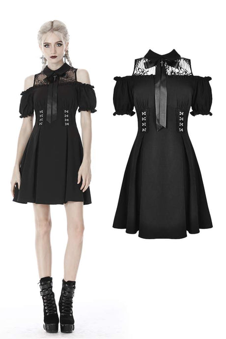 Dark In Love Coretta Bardot Dress - Kate's Clothing