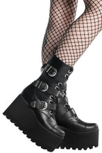 Load image into Gallery viewer, Killstar Oracle Wedge Boots - Kate's Clothing