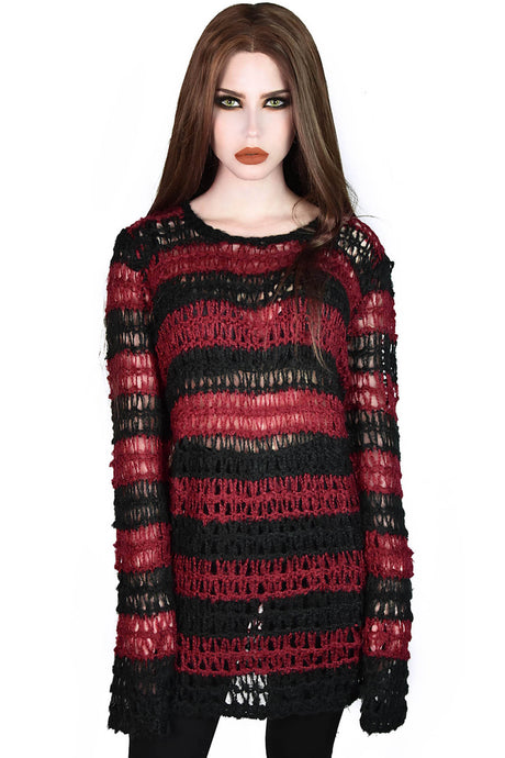 Killstar Elm Street Mohair Sweater - Kate's Clothing