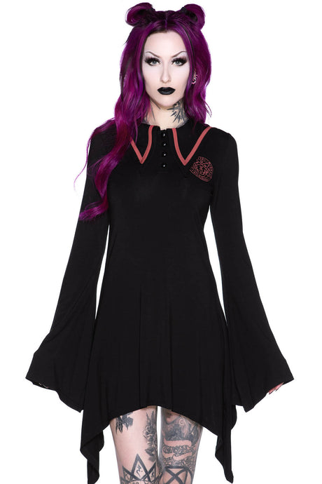 Killstar En-Crypted Collar Dress - Kate's Clothing